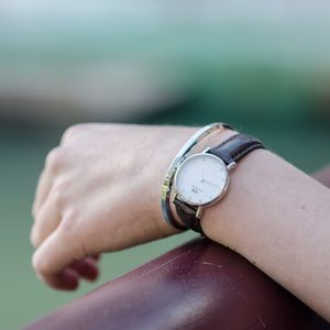 Accessories - Daniel Wellington Small Brown Leather Watch